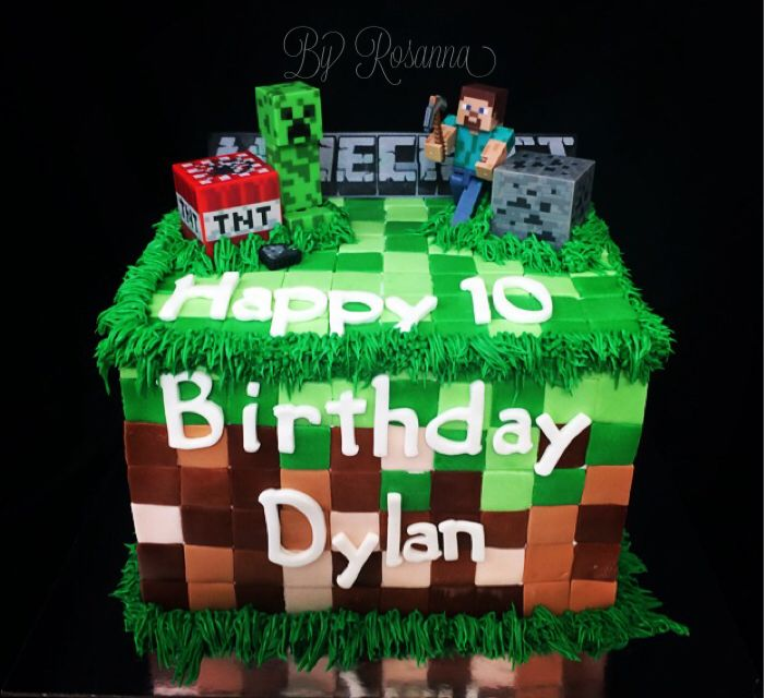 Minecraft Cake Made By Rosanna Lancaster Cakes I Made By