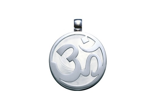 The Bernhard H. Mayer® Om Chi Pendant features the remarkable 'Om' symbol beautifully crafted in sterling silver, capturing the principle philosophy and mythology of Hinduism. The pendant encases technically engineered natural minerals which have been structurally bonded in glass at a molecular level, using high heat fusion methods.