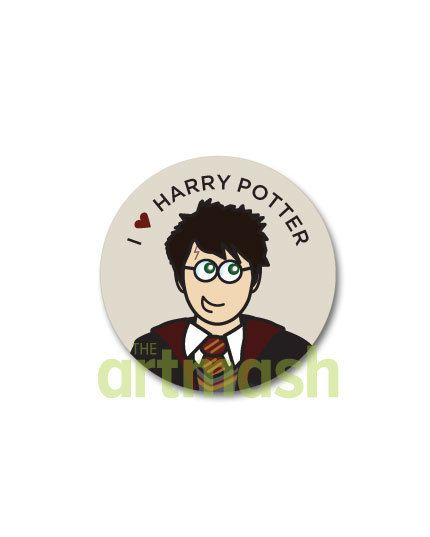 Harry Potter Button  I Heart Harry Potter by theartmash on Etsy, $1.50