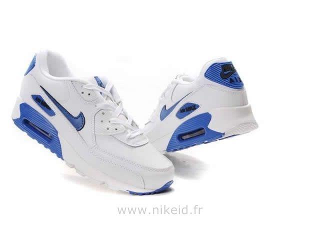 Nike Air Max 90 Blanc Bleu Chaussures Homme Air Max Baratas