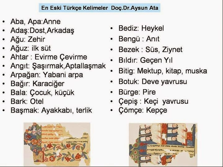 Eski Türkçe Kelimeler - Türk Asya - Bilig Bitig, Asian Turkish, Тюрки России