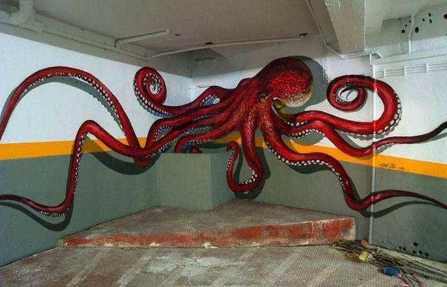 octopus graffiti art