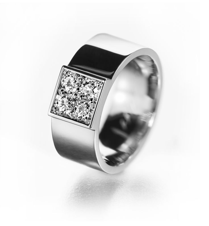 modern wide engagement ring scandinavian