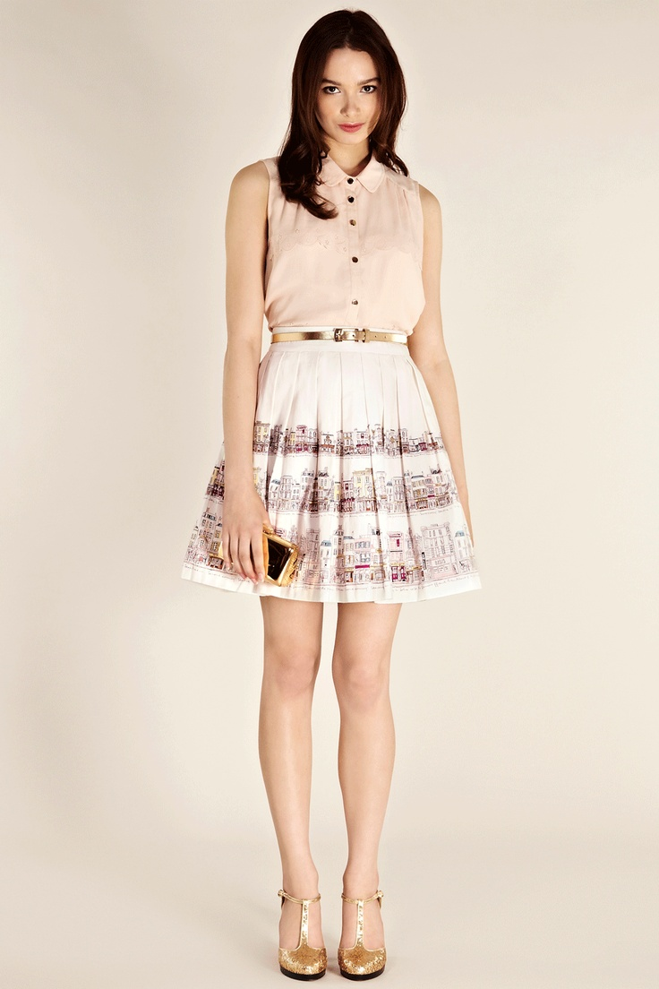 Oasis Skirts   Cream Street Scene Skirt   Womens Fashion Clothing   Oasis Stores UK
