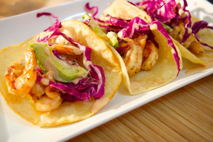 To get this recipe, visit my website: http://cookedbyjulie.com/index.php/categories/let-s-do-lunch/115-grilled-shrimp-tacos