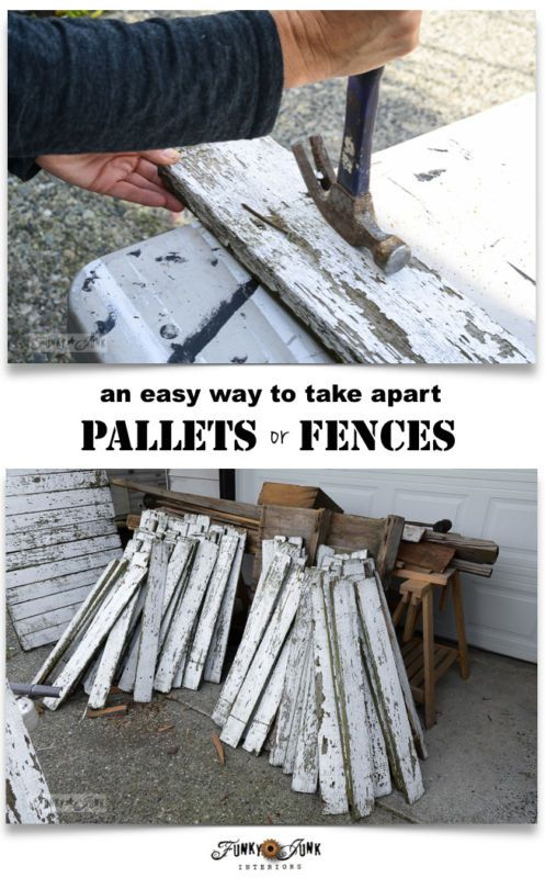 An easy way to take apart pallets or fences, without fancy tools! By Funky Junk Interiors for Ebay