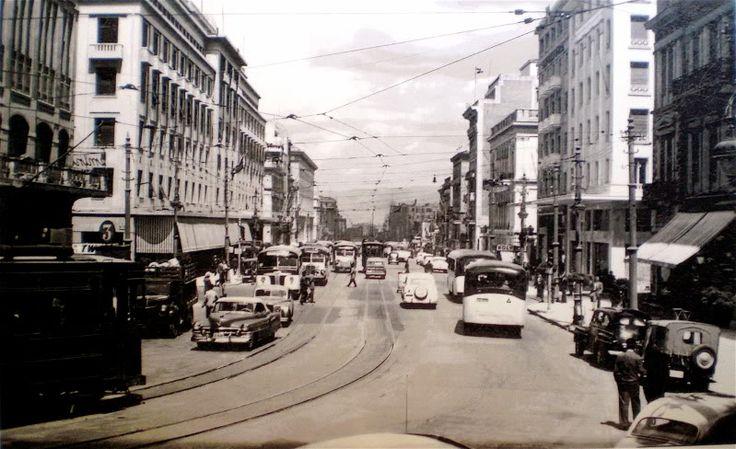 Panepistimiou Street, Athens, in 1950's