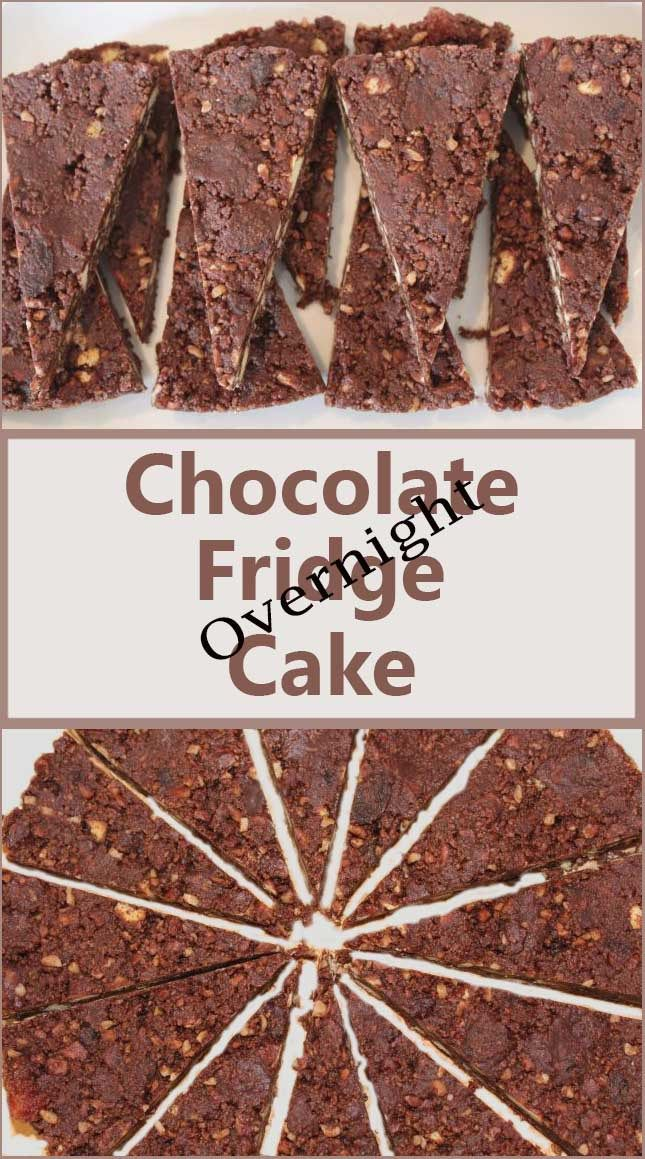 It's a miracle! A no bake chocolate fridge cake that appears in your fridge in the morning! And at under 250 calories per slice!! Chocolate cake heaven!