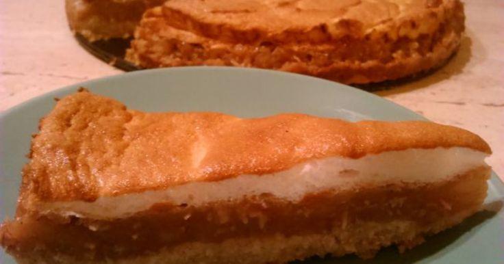 Ciasta  - Jabłecznik z pianką na kruchym orzechowym spodzie