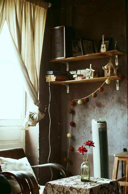 """Fateme M's board """"cozy"""" is a small board, fewer than twenty pins, all quiet scenes of interiors, often looking out a window. Nothing fancy, glamourous. Just sweet--and yes, cozy--places I could sit happily and read or talk with a friend. http://www.pinterest.com/fatilawer/cozy/"""
