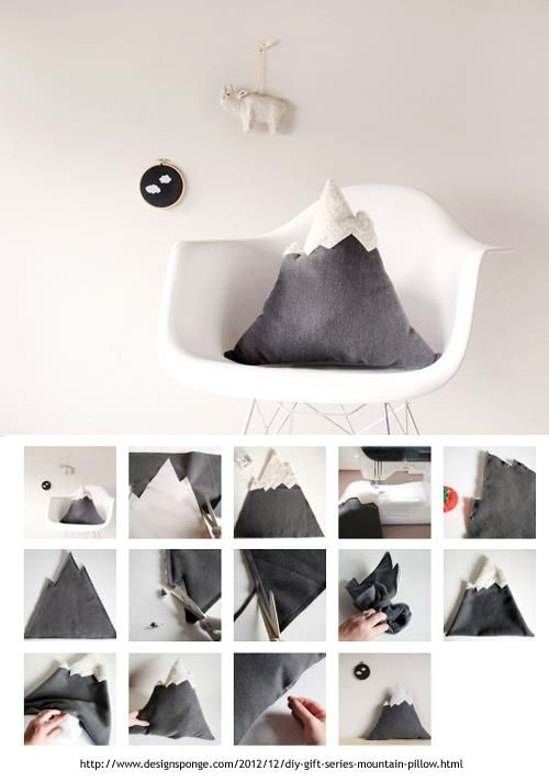 DIY mountain pillow