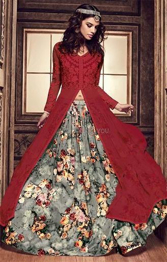 Ineffable Maroon Embroidered N Printed Silk Designer Suit For Ladies  #IndianFashion #StylishDresses  #DesignerSuits #DesignerSalwar #SalwarStyles #Gorgeous #DesignerFashions #DesignerTrends #InspiringDesigns