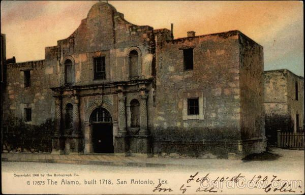 The Alamo, built 1718 San Antonio Texas