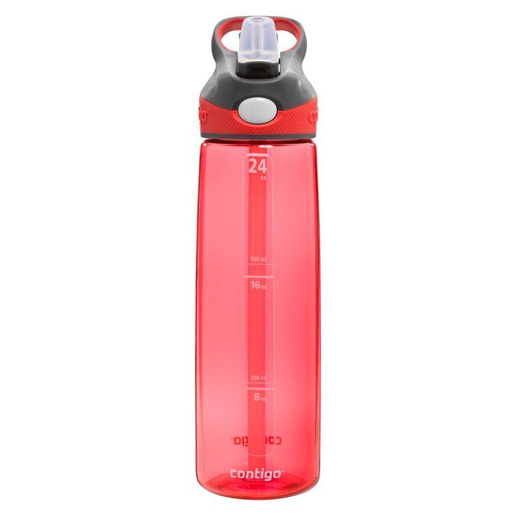 Contigo Autospout Straw Addison 24oz Plastic Water Bottle - Watermelon, Pink