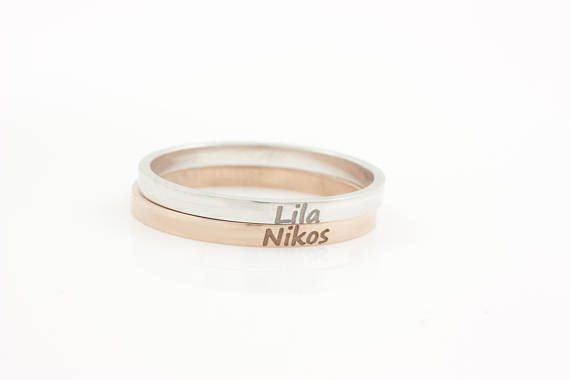 Custom Name Ring Personalized Ring Name Ring Personalized