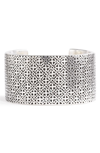 Lois Hill 'Silver Flat Geo' Large Cuff available at #Nordstrom