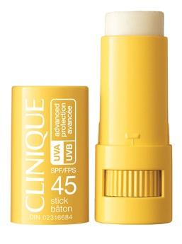 Clinique's SPF 45 advanced suncare protection stick