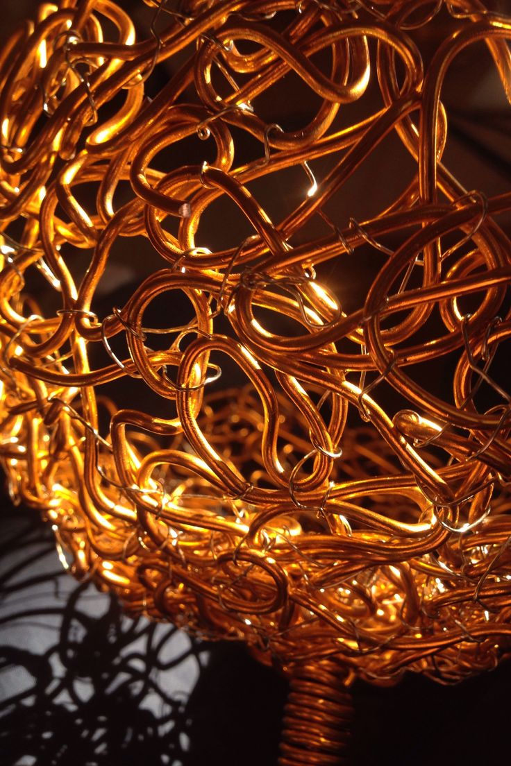 Detail of aluminium wire bouquet by NO NO NO
