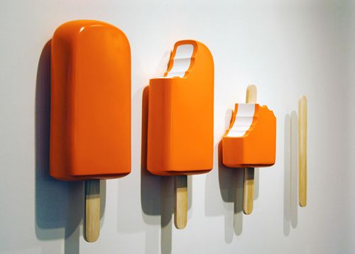 Tim Berg - Popsicles. I like this piece, due to it showing the sequence of an ice cream being eaten. I like the way the sculpture is on the wall.
