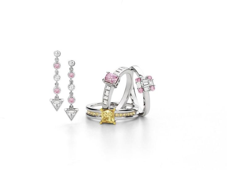 Pink and yellow diamond jewellery by Giulians