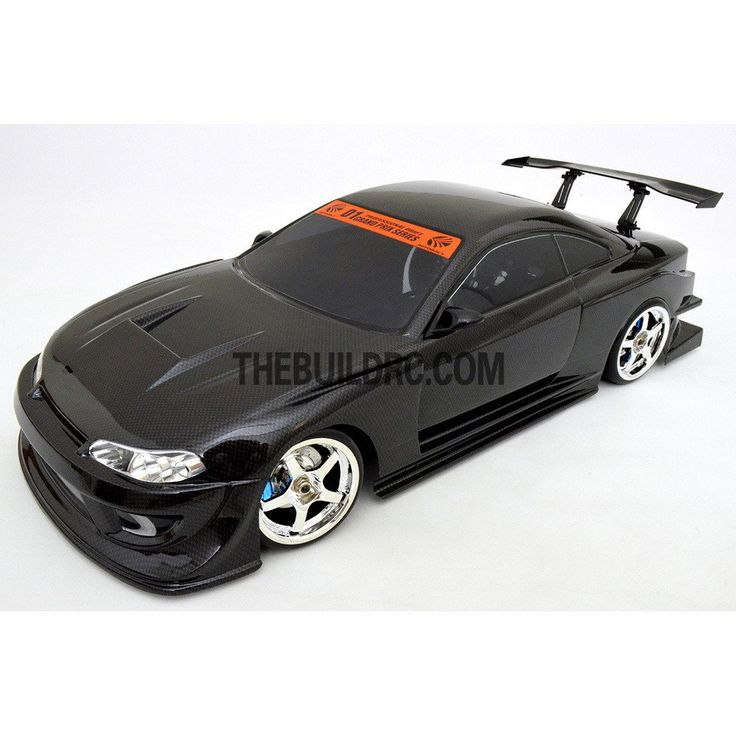 1/10 NISSAN S15 195mm PC Finished Carbon Fiber Print RC Car Body with Spoiler / Side Mirror / Light Box