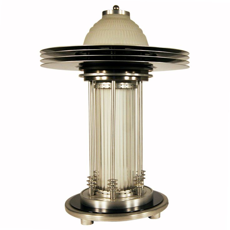 689 best art deco lamps images on pinterest art deco style machine age table lamp aloadofball Images