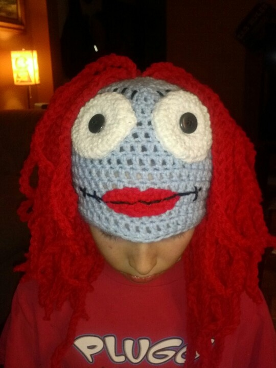 Nightmare before Christmas sally crochet hat made by me!!!