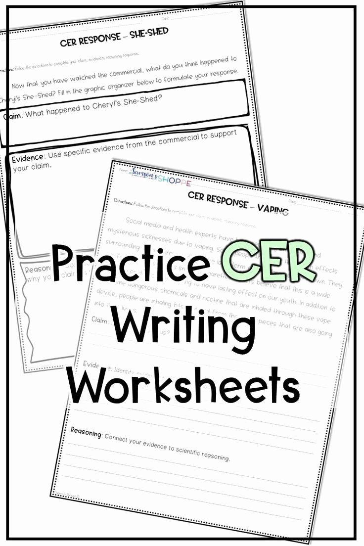 Identifying Claims And Evidence Worksheet Best Cer Claim Evidence Reasoning Practice Science Student Science Worksheets Claim Evidence Reasoning [ 1104 x 736 Pixel ]