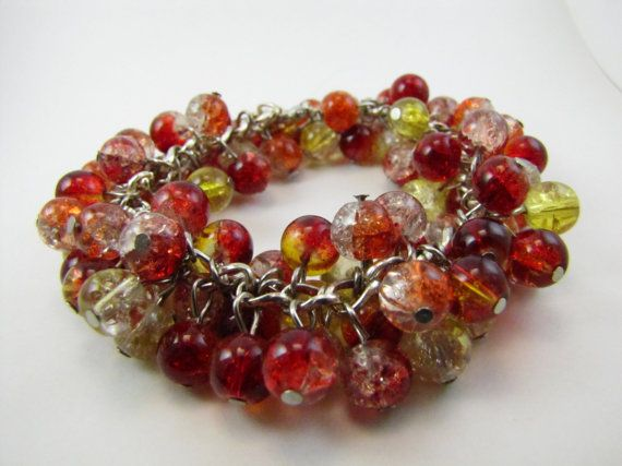 Each bead is individually wired by hand to form a full, fun colorful bracelet. Great gift for teachers, nurses or friends that like to have