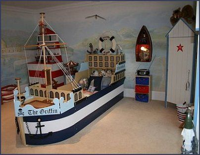 129 best nautical themed bedrooms images on Pinterest | Bedroom ...