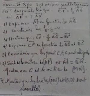 الرياضيات لكل المستويات: Calcul vectoriel exercice 2