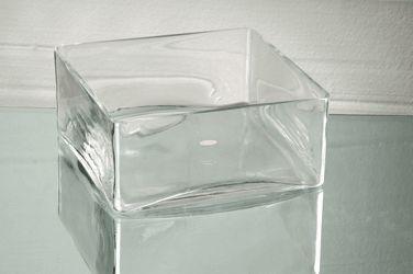 "Cheap square Glass Bowls | 12""x4""H Square Block Clear Glass Vases Wholesale Vase | eBay"