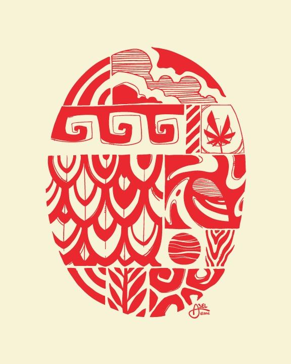 Surf art illustration (print) by @Erik Rannala Rannala Rannala Rannala Rannala Rannala Rannala Abel