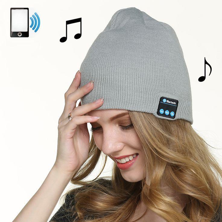 Smart Cap Wireless Bluetooth Headset Music Warm Winter Knitted Hats Earphone Sport headphones Stereo Hands-free headphone