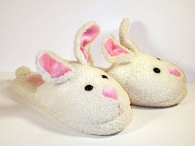 """Classic Bunny Slippers from Real Genius Library Break Down Scene and the end as well: """"May I take this opportunity to compliment you on your fashion sense, particularly your [Bunny] slippers..."""""""