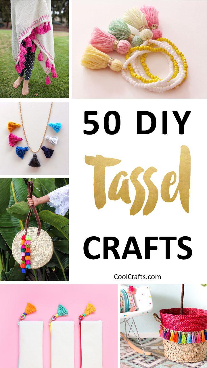 Virtual craft club diy vinyl wood slice sugar bee - 50 Playful Diy Tassel Crafts To Decorate Your Home