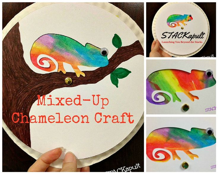 A Mixed-Up Chameleon Craft- STACKapult