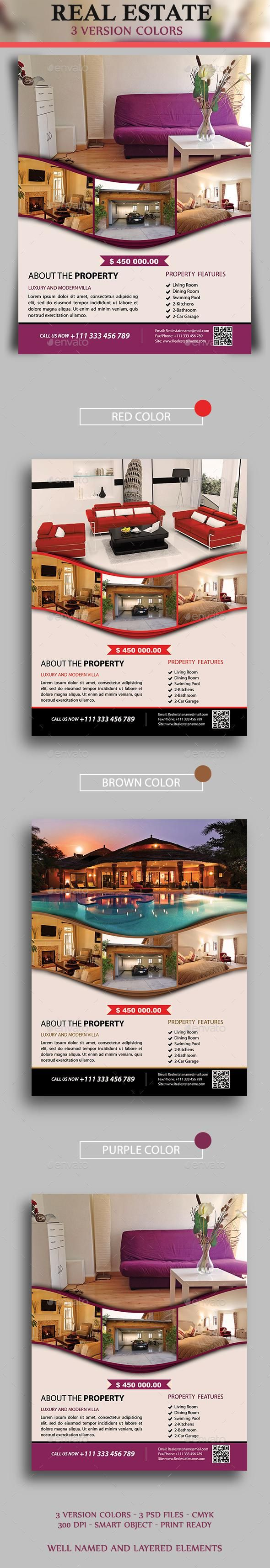 Real Estate Flyer for $5 – Envato #flyer #business #FlyerDesign #print #flyers