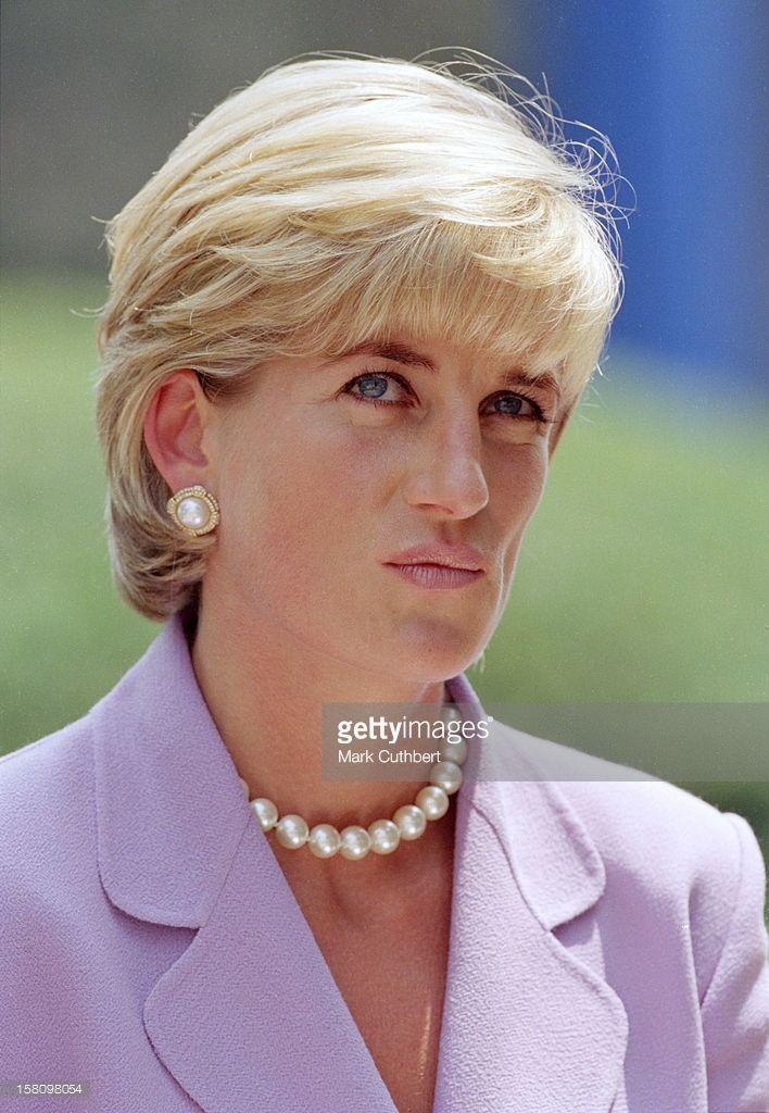 Diana, The Princess Of Wales Visits Washington, Usa.Anti-Landmines Speech At The Red Cross Headquarters .