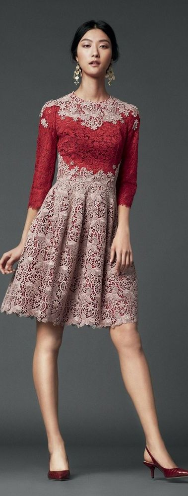 Color detail draws attention to bust while a flare skirt in a textured fabric will hide bottom heaviness                                                                                                                                                                                 More