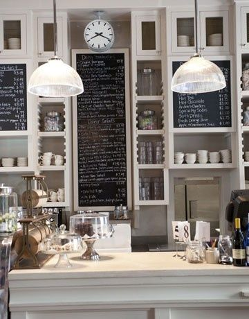 Coffee shop inspiration...love some of these ideas in your kitchen