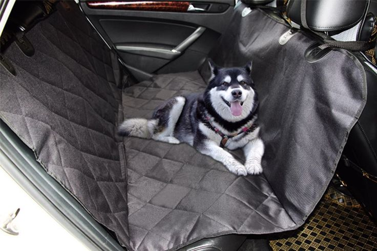 Pet Car Seat Cover With Seat Anchors for Cars, Trucks, and Suv's - Black, WaterProof & NonSlip Backing