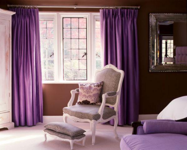 Interior Farben lila sofa hocker idee