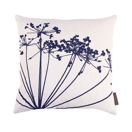 Clarissa Hulse - Dill Cushion - 45x45cm - White/Ink