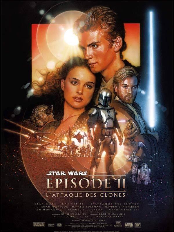 Affiche du film Star Wars épisode II : l'attaque des clones