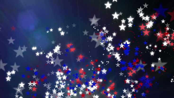 US Patriotic Background. Stars Roll By On The Top And Bottom. The ...