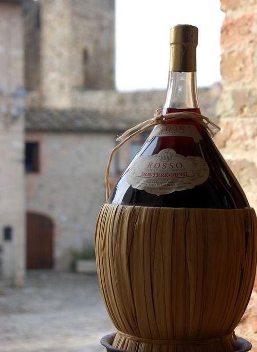 FIASCO: The original Tuscan table wine bottle.