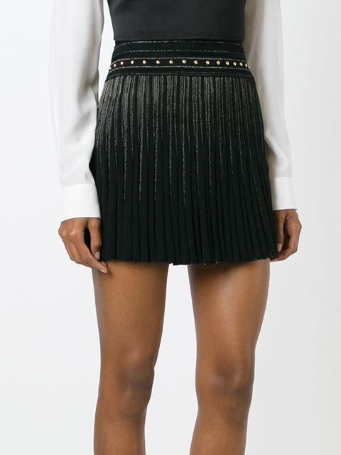 плиссированные шорты-юбка