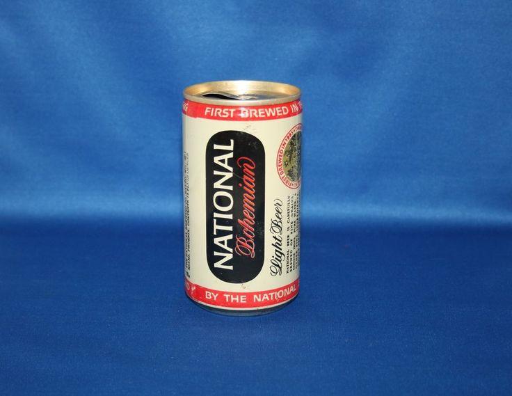 Vintage Carling NATIONAL Bohemian Light Beer Aluminum Pull Tab Can 12FL OZ Empty #OldGermanBeer
