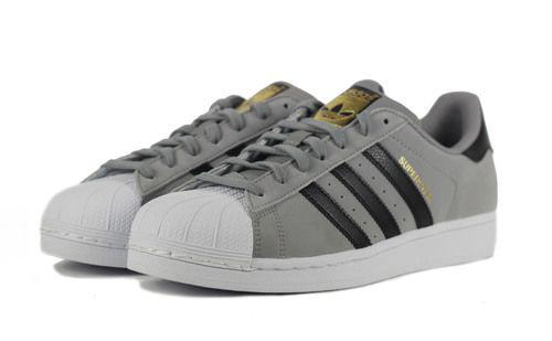 adidas for men superstar charcoal solid grey black. Black Bedroom Furniture Sets. Home Design Ideas